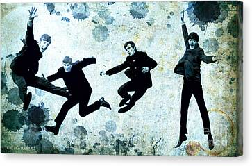 The Beatles Jump Canvas Print by Pablo Franchi