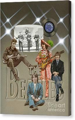 Sullivan Canvas Print - The Beatles by Marshall Robinson