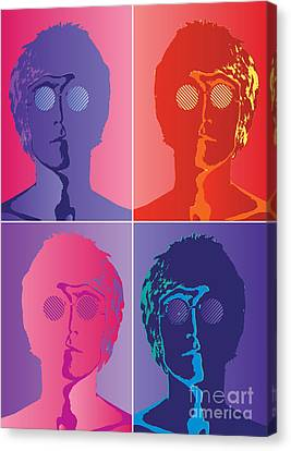 The Beatles No.10 Canvas Print by Caio Caldas
