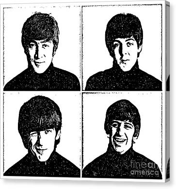 The Beatles No.13 Canvas Print by Caio Caldas