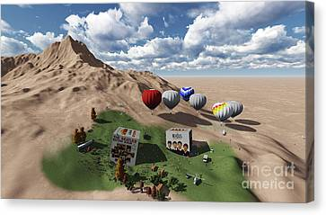 The Beatles Oasis On Desert Canvas Print by Pablo Franchi