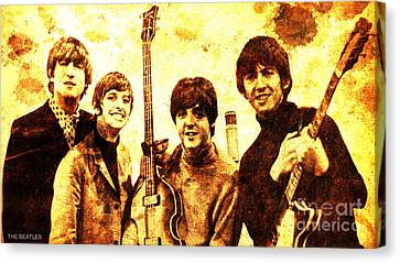 The Beatles Canvas Print by Pablo Franchi