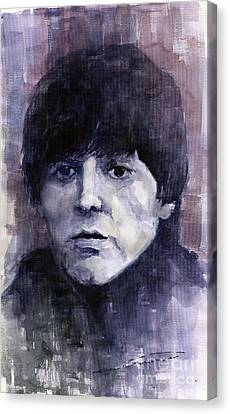 The Beatles Paul Mccartney Canvas Print by Yuriy  Shevchuk