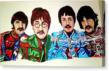 The Beatles  Canvas Print by Pauline Murphy