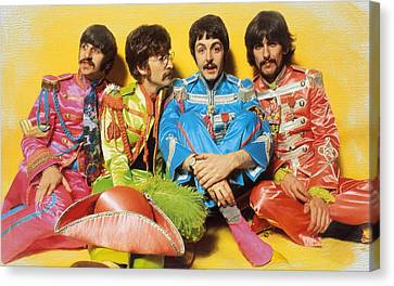 The Beatles Sgt. Pepper's Lonely Hearts Club Band Painting 1967 Color Canvas Print by Tony Rubino