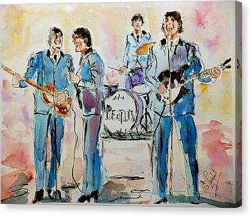 The Beatles Canvas Print by Steven Ponsford
