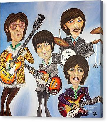 The Beatles Canvas Print by Nicolette Maw