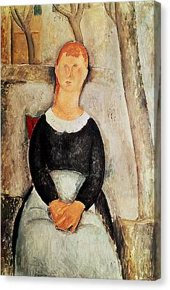 The Beautiful Grocer Canvas Print by Amedeo Modigliani