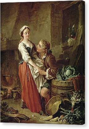 The Beautiful Kitchen Maid Canvas Print by Francois Boucher
