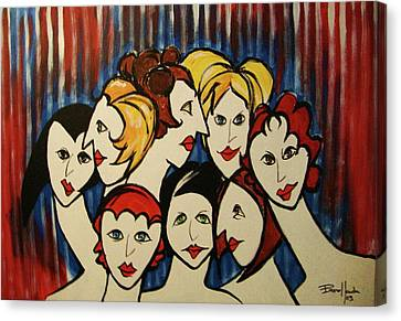 The Beautiful Ladies Canvas Print