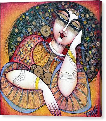 Red Eye Canvas Print - The Beauty by Albena Vatcheva