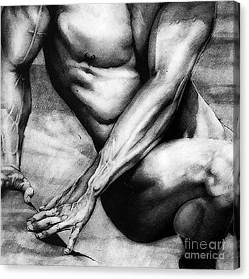 The Beauty Of A Nude Man Canvas Print