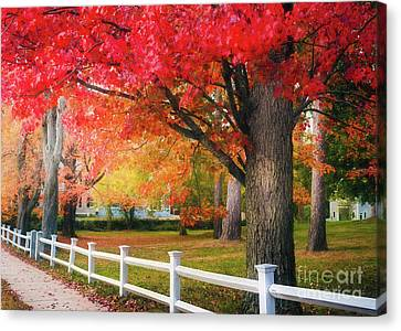 The Beauty Of Autumn In New England Canvas Print