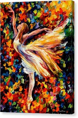 People Canvas Print - The Beauty Of Dance by Leonid Afremov