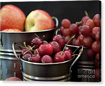 The Beauty Of Fresh Fruit Canvas Print by Sherry Hallemeier