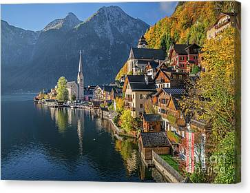 Hallstatt Canvas Print - The Beauty Of Imperfection by JR Photography