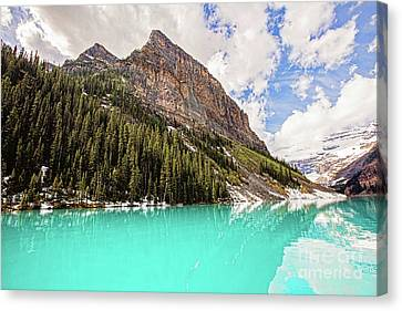 The Beauty Of Lake Louise Canvas Print by Scott Pellegrin