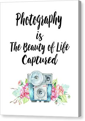 Canvas Print featuring the digital art The Beauty Of Life by Colleen Taylor