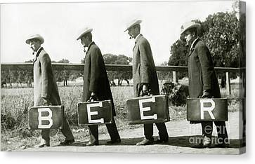 Police Art Canvas Print - The Beer Boys by Jon Neidert