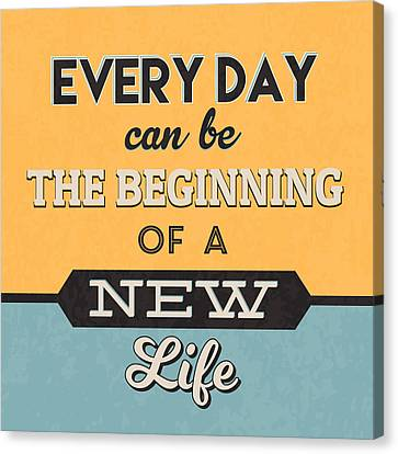 The Beginning Of A New Life Canvas Print by Naxart Studio