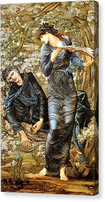 The Beguiling Of Merlin Canvas Print - The Beguiling Of Merlin 1874 by Edward Burne Jones 1833 - 1898 - Joy of Life Art Gallery