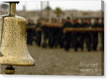 The Bell Is Present On The Beach Canvas Print by Stocktrek Images