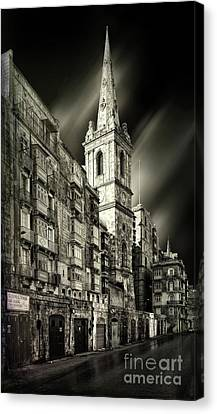 The Bell Tower Of A Church In Valletta Canvas Print by Stephan Grixti