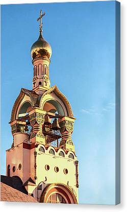The Bell Tower Of The Temple Of Grand Duke Vladimir Canvas Print
