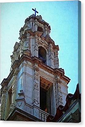Jesus Canvas Print - The Bell Tower - Riverside California by Glenn McCarthy Art and Photography