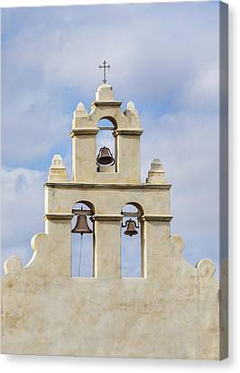 Canvas Print featuring the photograph The Bells Of San Juan by Mary Jo Allen