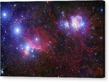 The Belt Stars Of Orion Canvas Print by Robert Gendler
