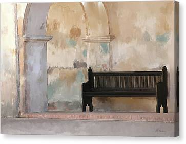 The Bench Canvas Print by Michael Greenaway