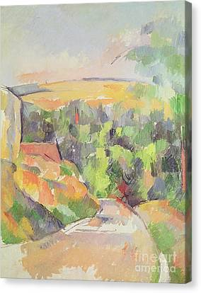 The Bend In The Road Canvas Print by Paul Cezanne