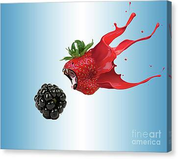 Canvas Print featuring the photograph The Berries by Juli Scalzi