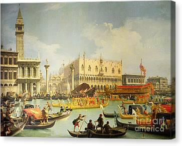 The Betrothal Of The Venetian Doge To The Adriatic Sea Canvas Print by Canaletto