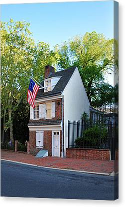 The Betsy Ross House Philadelphia Canvas Print by Bill Cannon
