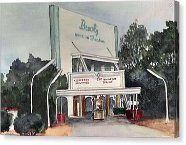 The Beverly Drive Inn Canvas Print
