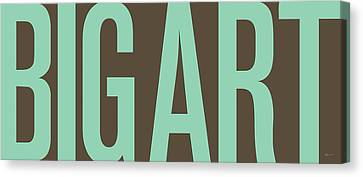 The Big Art - Pure Emerald On Cotton Canvas Print by Serge Averbukh