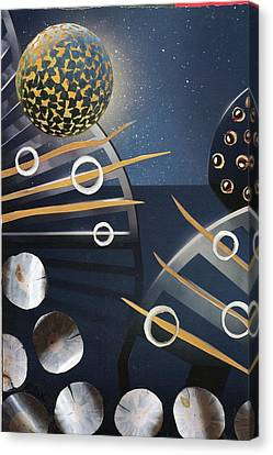 Canvas Print featuring the painting The Big Bang by Michal Mitak Mahgerefteh