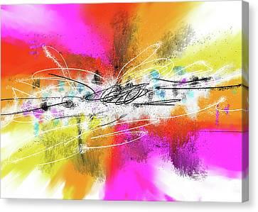 The Big Bang Of Colors - Digital Acrylic Abstract Art Canvas Print