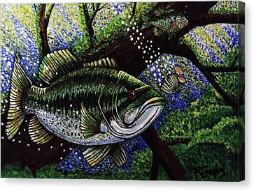 The Big Bass Canvas Print by Bob Crawford