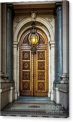 Canvas Print featuring the photograph The Big Doors by Perry Webster