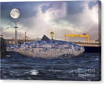 Belfast Canvas Print - The Big Fish by Juli Scalzi