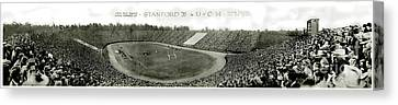 Stanford Canvas Print - Stanford And U Of C 1925 by Jon Neidert