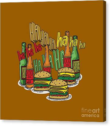The Big Lebowski  Some Burgers Some Beers And A Few Laughs  In And Out Burger Jeff Lebowski Canvas Print
