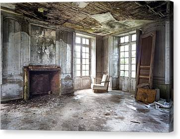 The Big Room - Abandoned Castle Canvas Print by Dirk Ercken