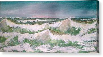 The Big Surf Canvas Print by Carol Grimes