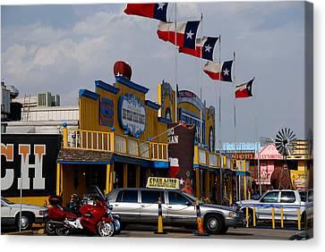 Amarillo Texas Canvas Print - The Big Texan In Amarillo by Susanne Van Hulst
