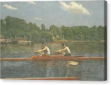 The Biglin Brothers Racing Canvas Print by Thomas Eakins