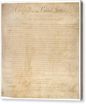 The Bill Of Rights. The First Ten Canvas Print